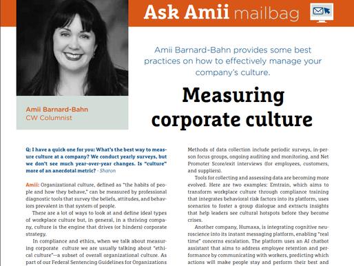 Compliance Week Ask Amii Mailbag: January/February 2020