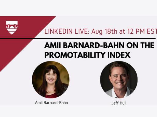 Institute of Coaching CoachX Conversations: Amii Barnard-Bahn on The Promotability Index