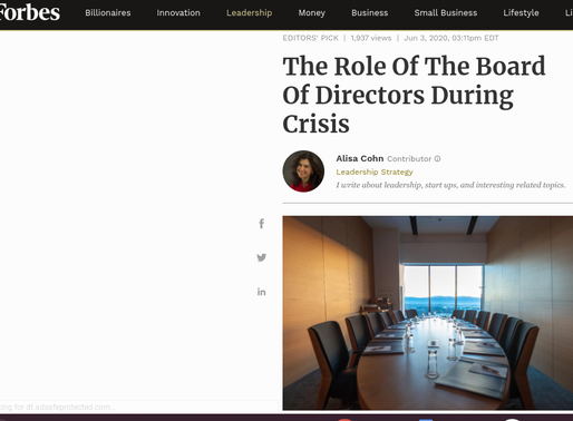 The Role Of The Board Of Directors During Crisis
