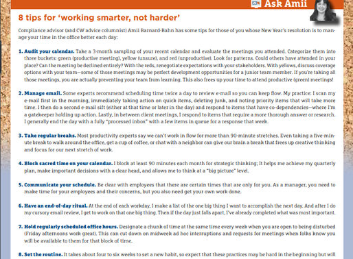 Ask Amii: 8 Tips For Working Smarter, Not Harder