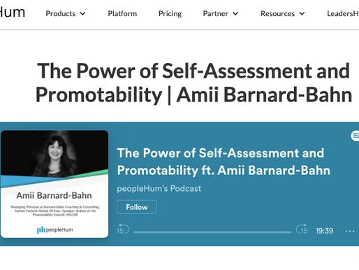The Power of Self-Assessment and Promotability   Amii Barnard-Bahn