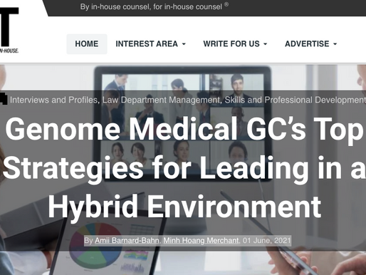 Genome Medical GC's Top Strategies for Leading in a Hybrid Environment