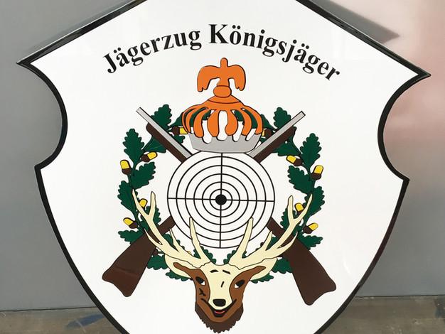 Schützenschild aus Dibond mit Klarlack