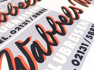 Digitaldruckaufkleber Konturgeschnitten