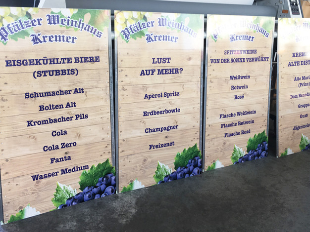 Schilder mit Digitaldruck