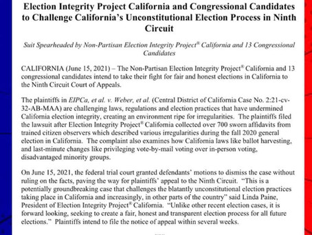 ELECTION INTEGRITY UPDATE: PRESS RELEASE