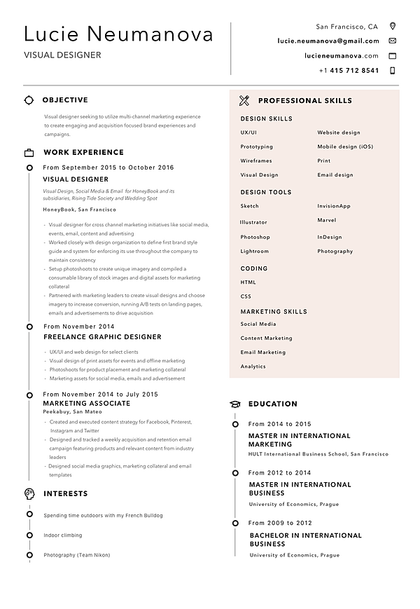 lucie neumanova - Digital Strategist Resume