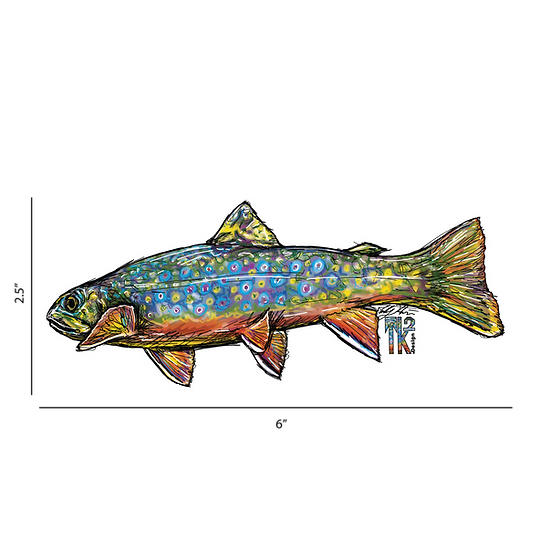 Colorful Brook Trout Sticker
