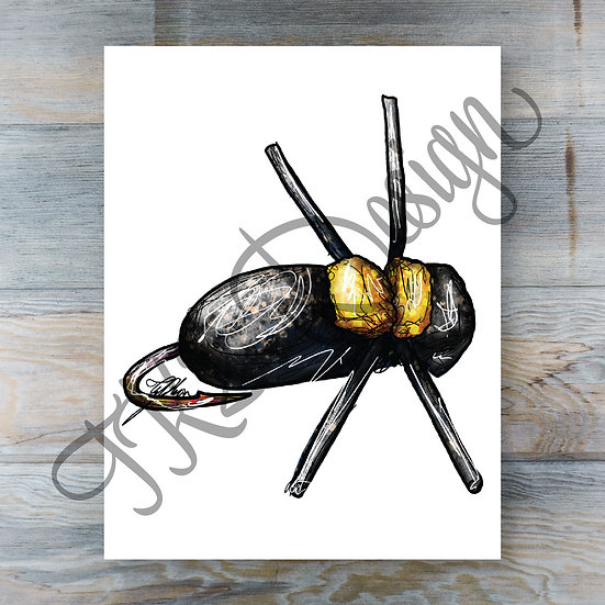 Black Beetle Print