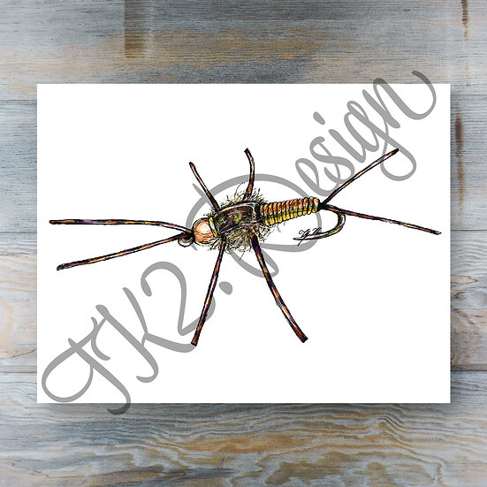 Rubber Legs Stone Fly Print