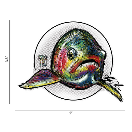 Circle Trout Sticker