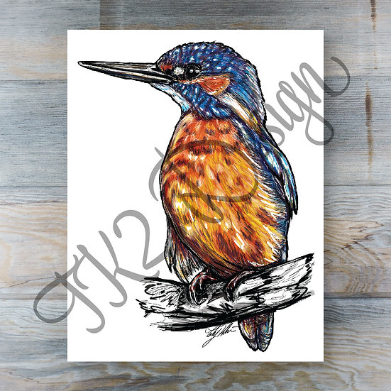 King Fisher Print