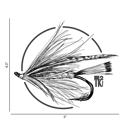 B&W Trout Spey Sticker
