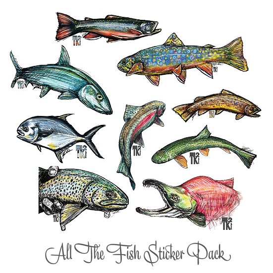 All The Fish Sticker Pack