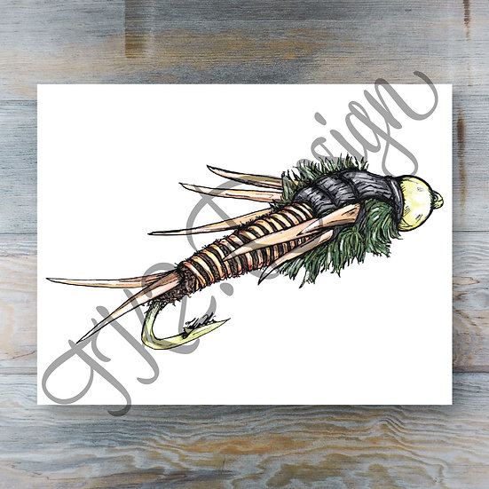 Wired Stonefly Print