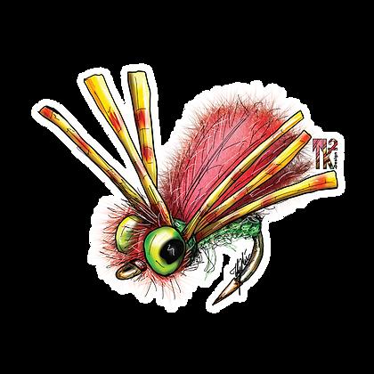Hippy Fly Sticker
