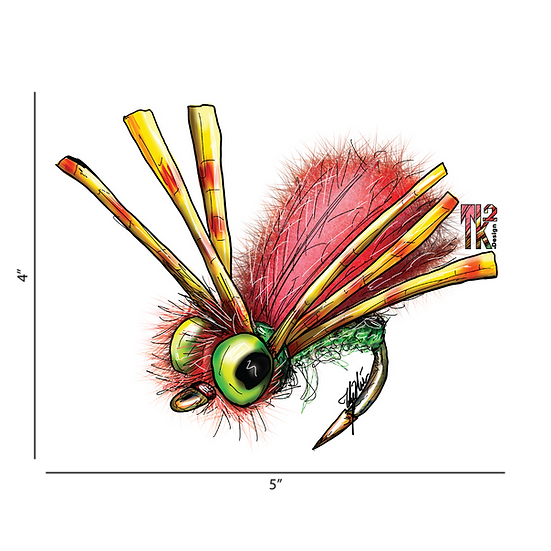 Hippy Fly Sticker