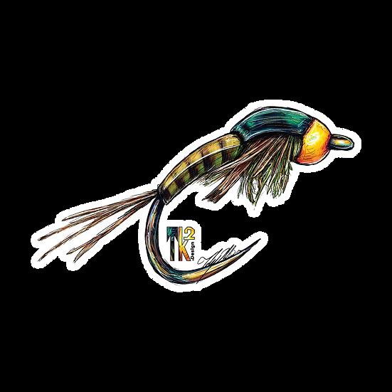 Mayfly Nymph Sticker