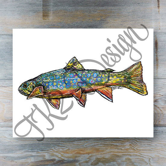 Colorful Brook Trout Print