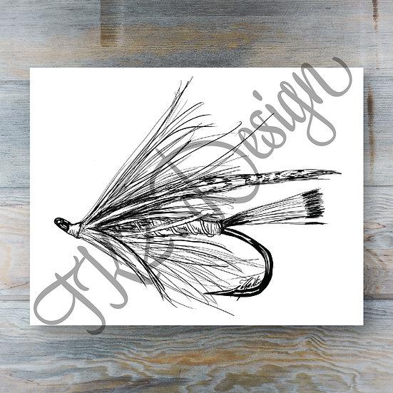 B&W Trout Spey Print