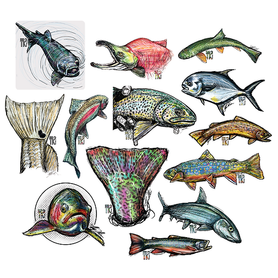 Fishy Vibes Sticker Pack