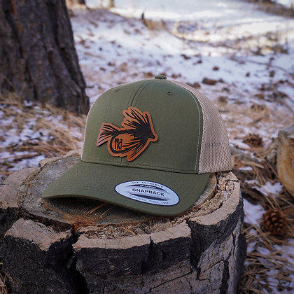 Moss Leather Fly Hat