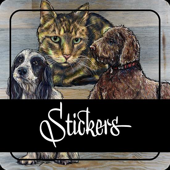 Pet Portrait Stickers Only