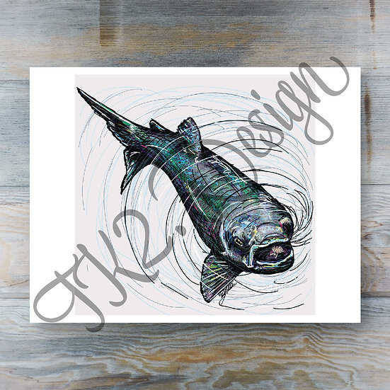 Eating Trout Print