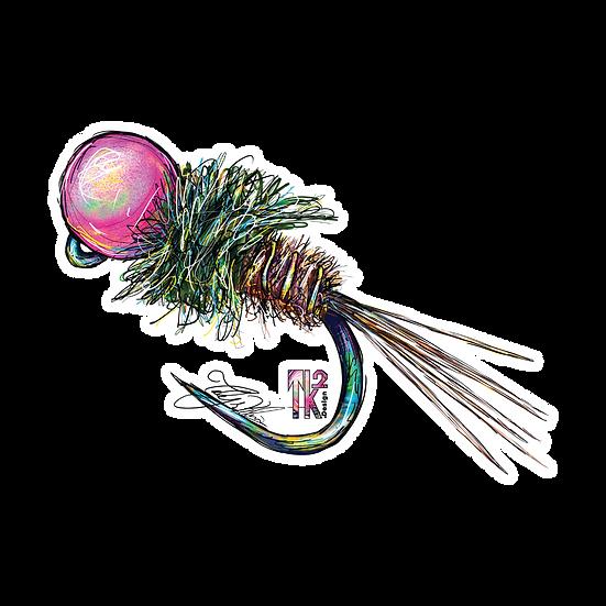 Pink Head Nymph Sticker