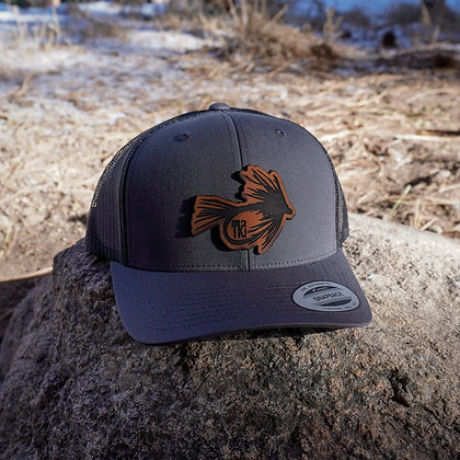 Dark Leather Fly Hat