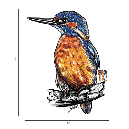 King Fisher Sticker