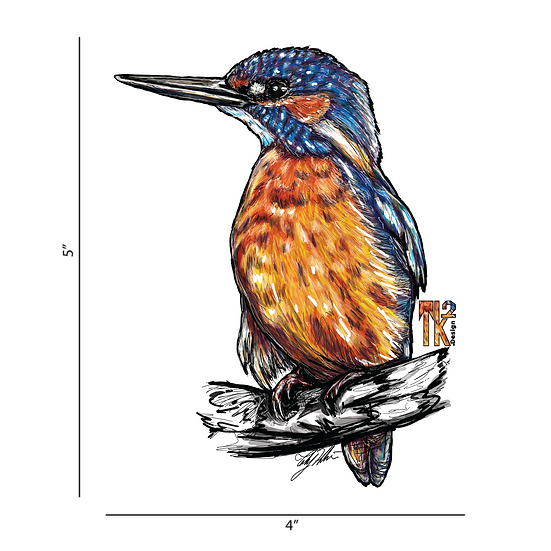 King Fisher Sticker