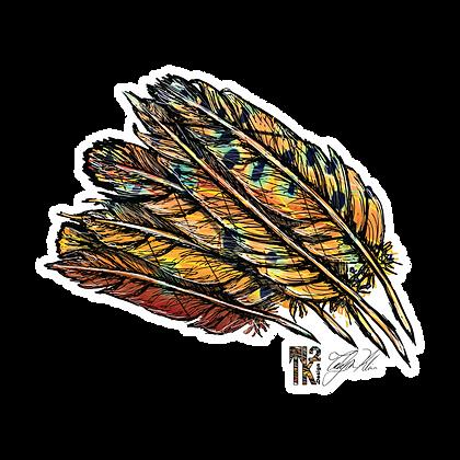 Feather Brown Sticker