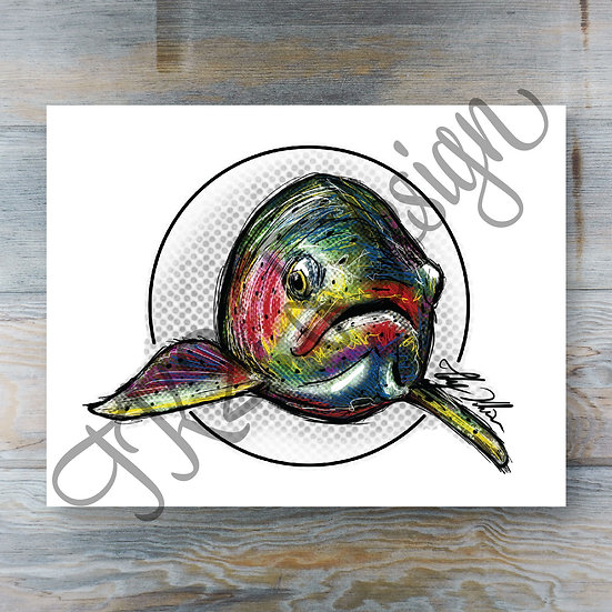 Circle Trout Print