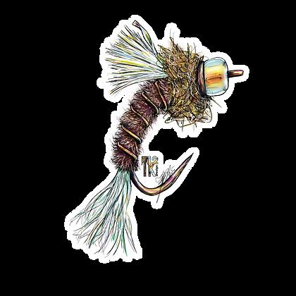 Mayfly Emerger Sticker