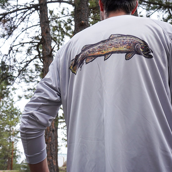 Brown Trout Long Sleeve Solar Shirt