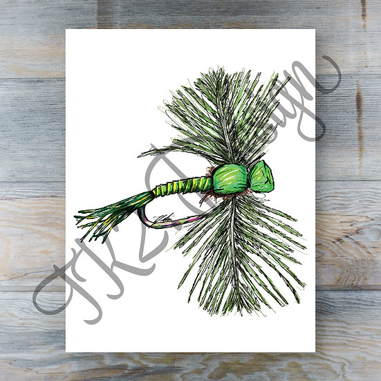Green Drake Spinner Print