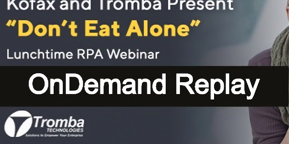 Don't Eat Alone: REPLAY from 4/10/2020 Webinar