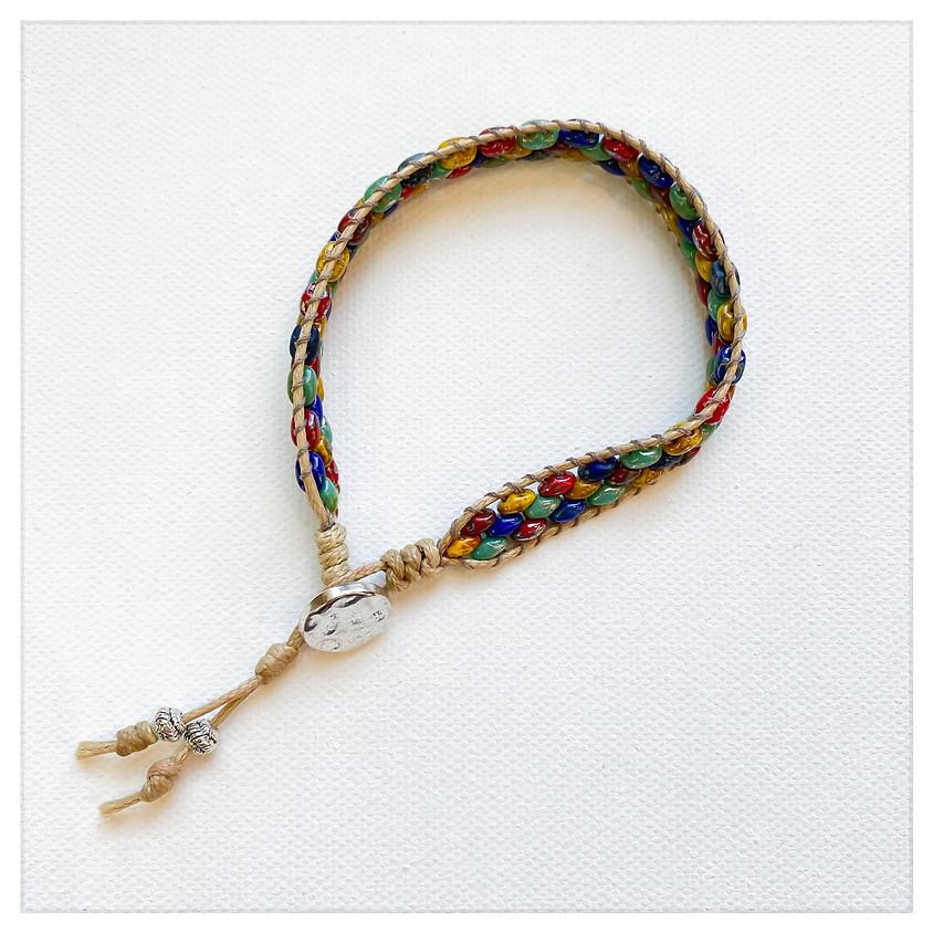 Super Duo & Beach Cord Bracelet (Chan Luu Style)/(Zoom)