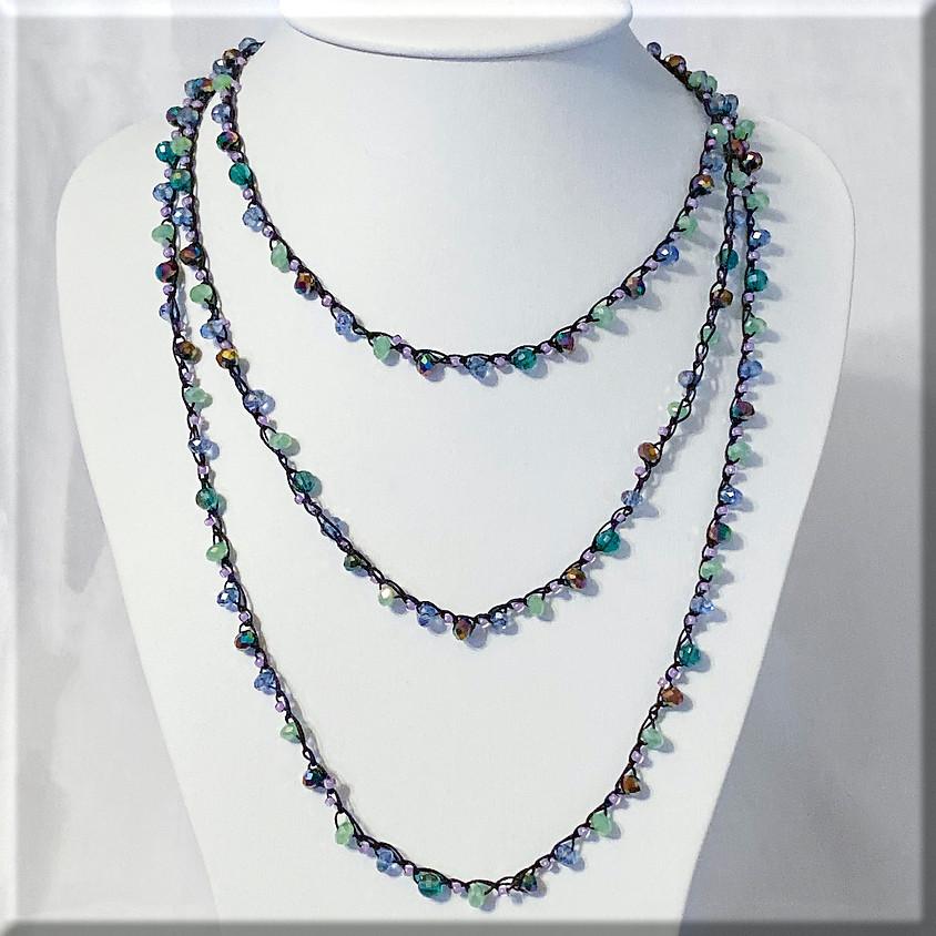 Beaded Crochet Necklace