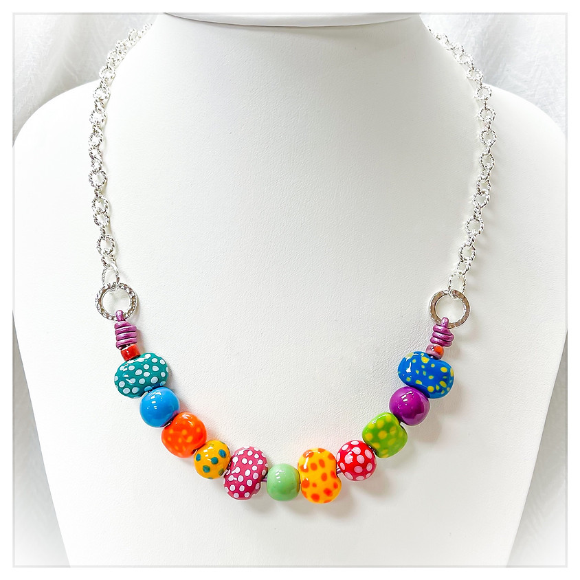 Polka Dot Spring Fun Necklace (IN House)