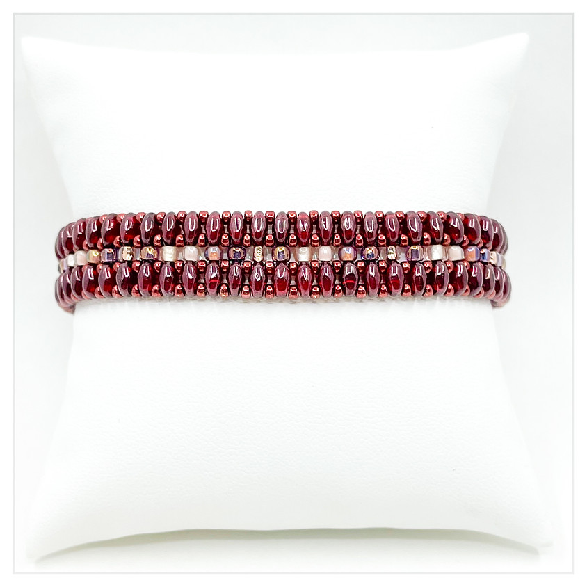 Merlot Magic Beaded Bracelet
