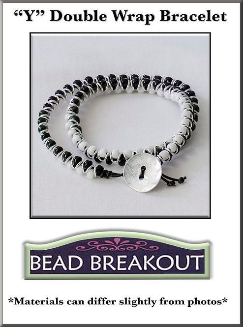 """Y"" Double Wrap Bracelet"