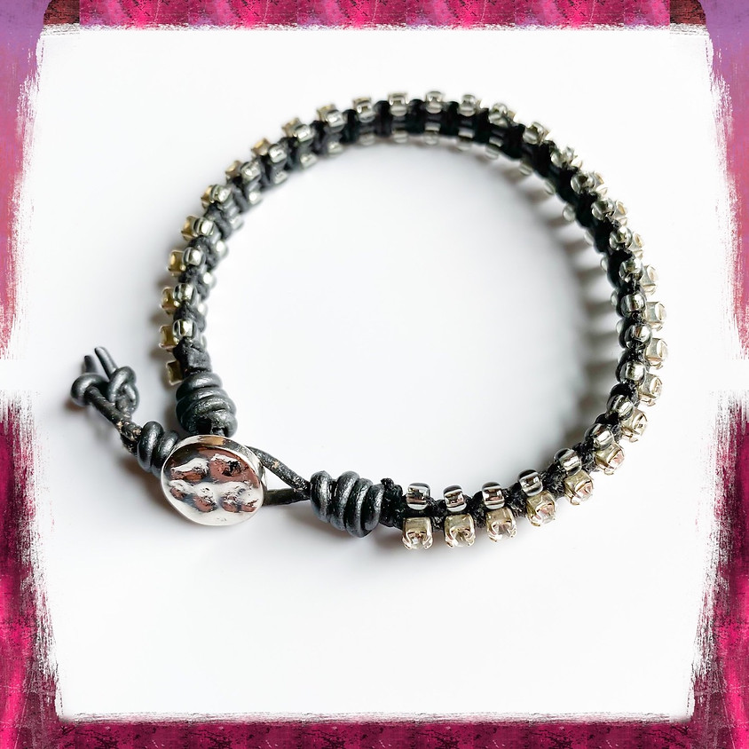 Studded Leather Bracelet (Zoom)