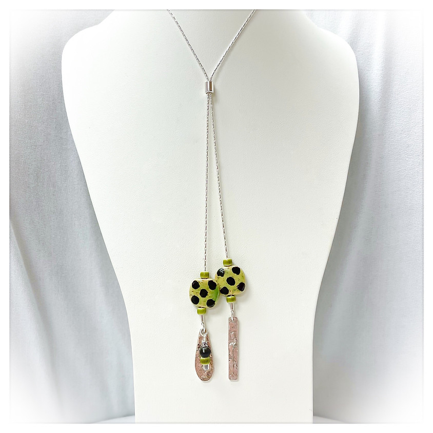Dangling Kazuri Beads over Kenya Necklace (In House)