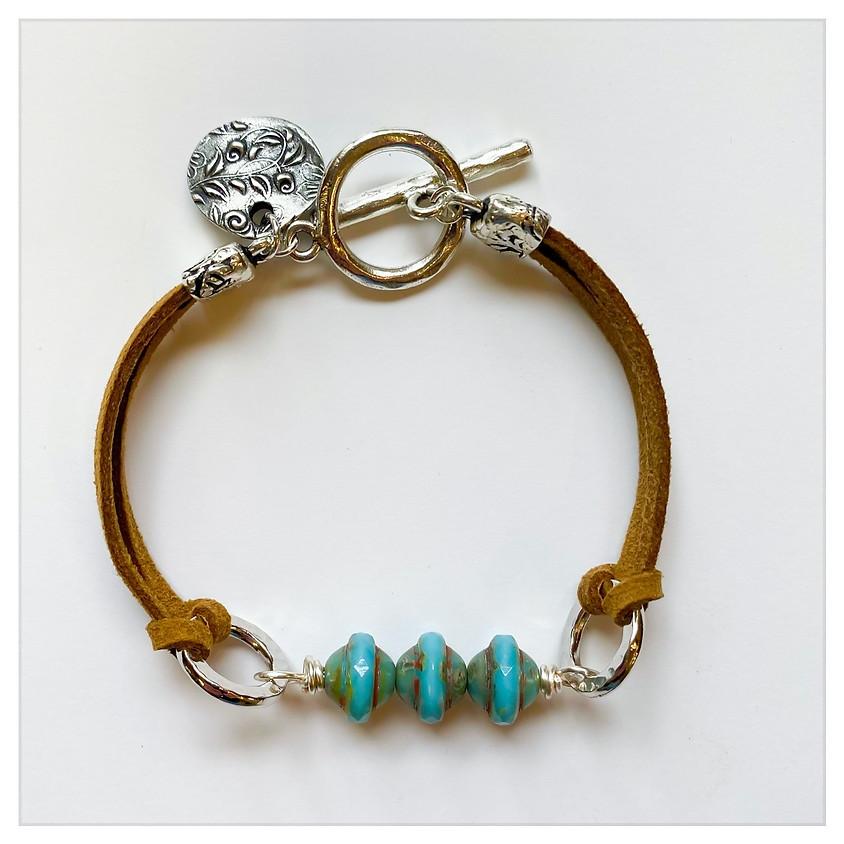 Sandstorm Leather Bracelet (In House)