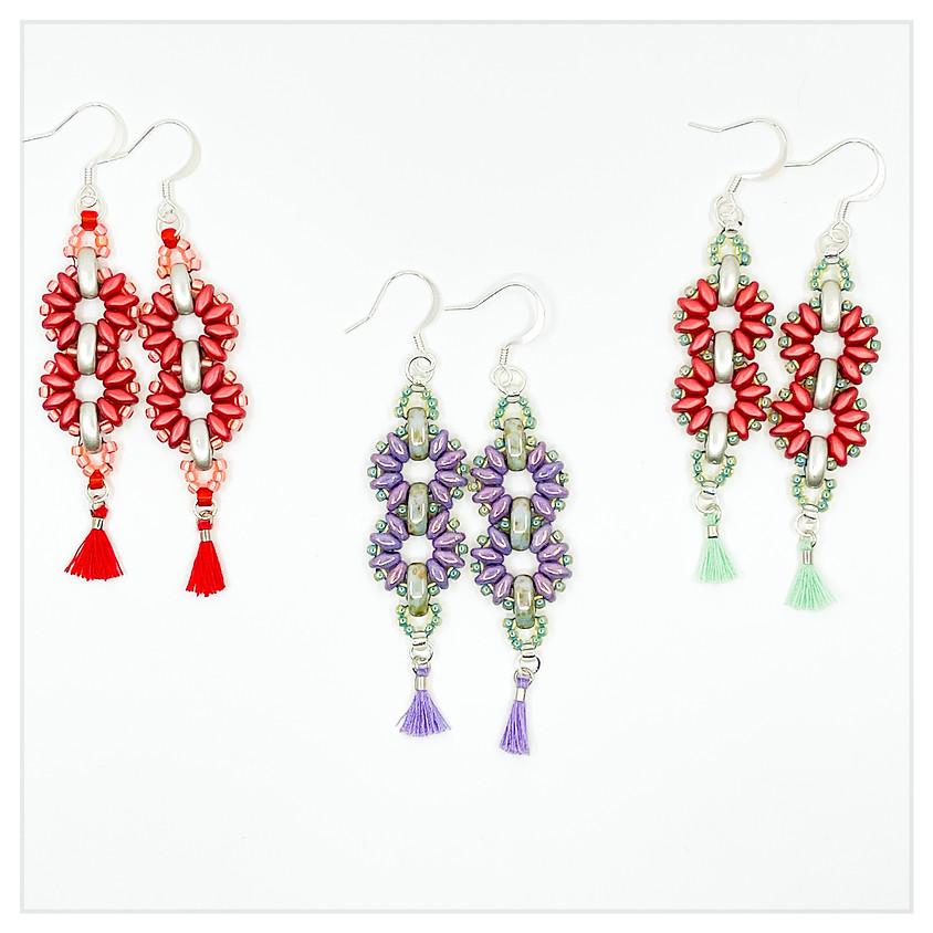 Dancing Pinwheel Beaded Earrings