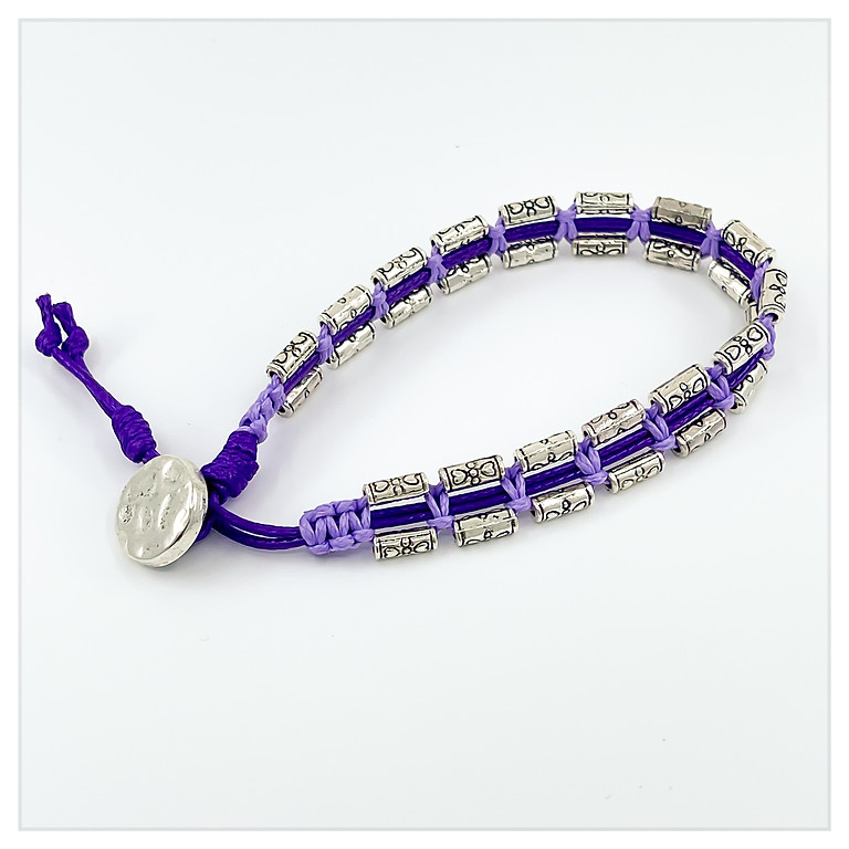 Beach Cord & Pewter Bracelet Boot Camp In House)
