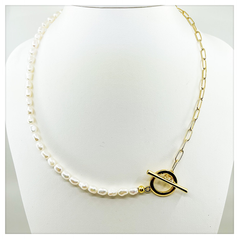 Simplistic Pearl & Chain Necklace Boot Camp (In House)