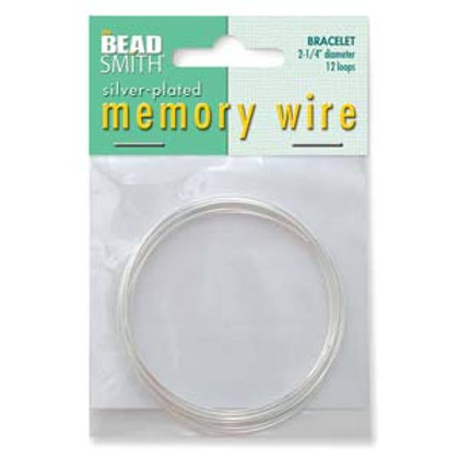 Memory Wire/ Silver Plated 2.25 Bracelet Wire 12 Loops